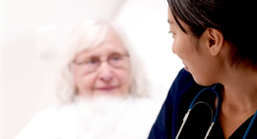 Nurse with patient used with Linde Healthcare campaign